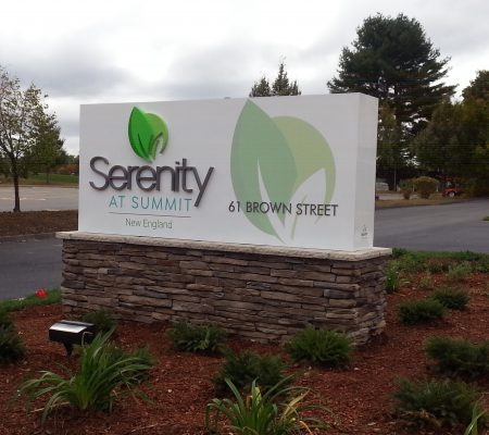 Serenity Monument Sign