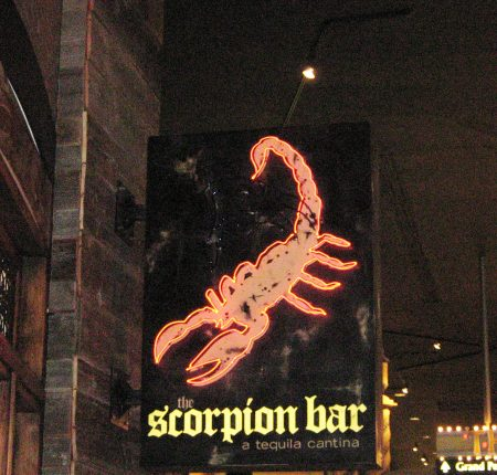 Scorpion Bar Blade Sign
