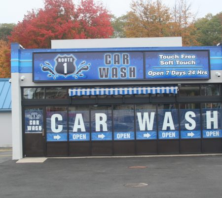 Rt. Car Wash Lexan And Window Lettering